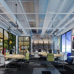 木渎办公室易胜博登录墙面和地板的处理方法